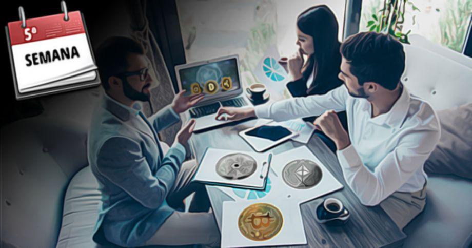 Investidores institucionais aumentam suas participações em cripto pela 5ª semana consecutiva